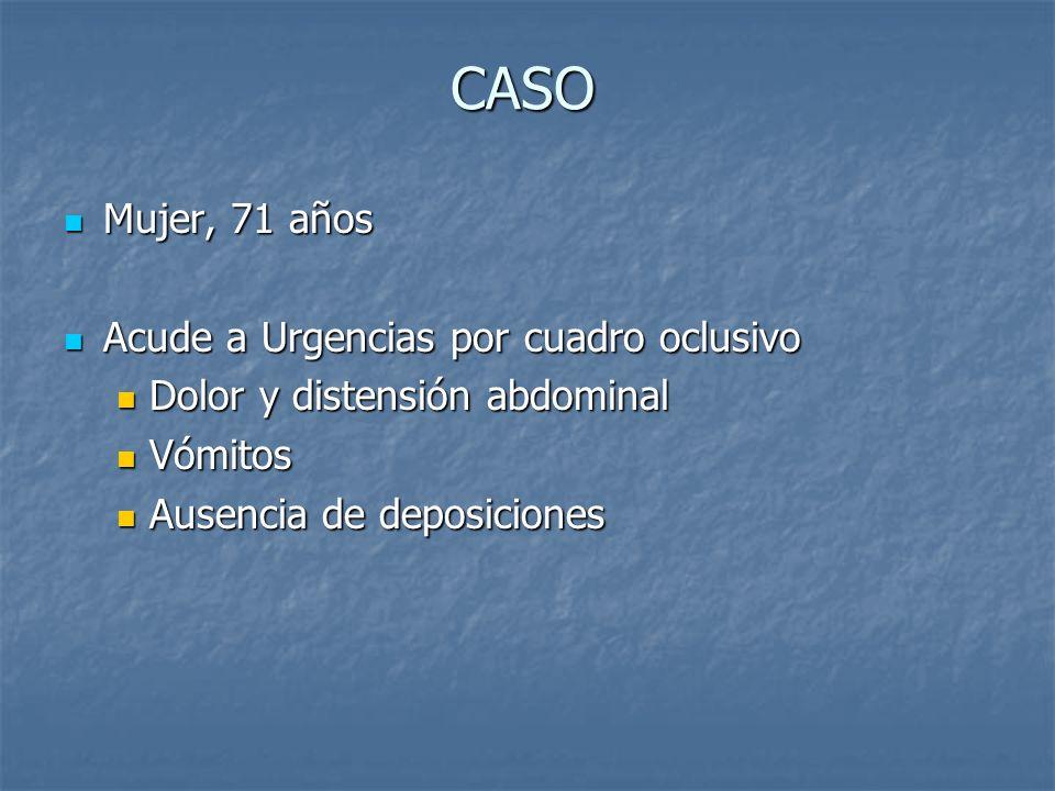 COMPLICACIONES Obstrucción intestinal Pseudomixoma peritoneal (no es imprescindible la rotura del quiste)