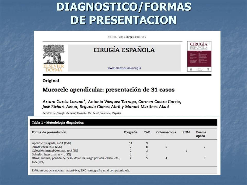 DIAGNOSTICO/FORMAS DE PRESENTACION