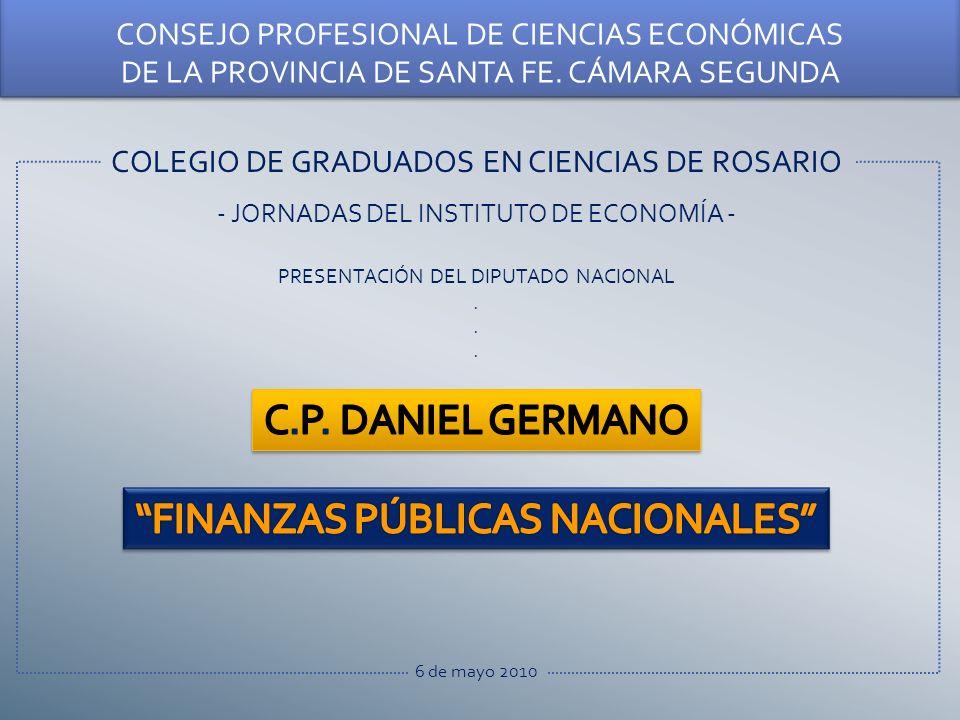 COLEGIO DE GRADUADOS EN CIENCIAS DE ROSARIO - JORNADAS DEL INSTITUTO DE ECONOMÍA - PRESENTACIÓN DEL DIPUTADO NACIONAL.