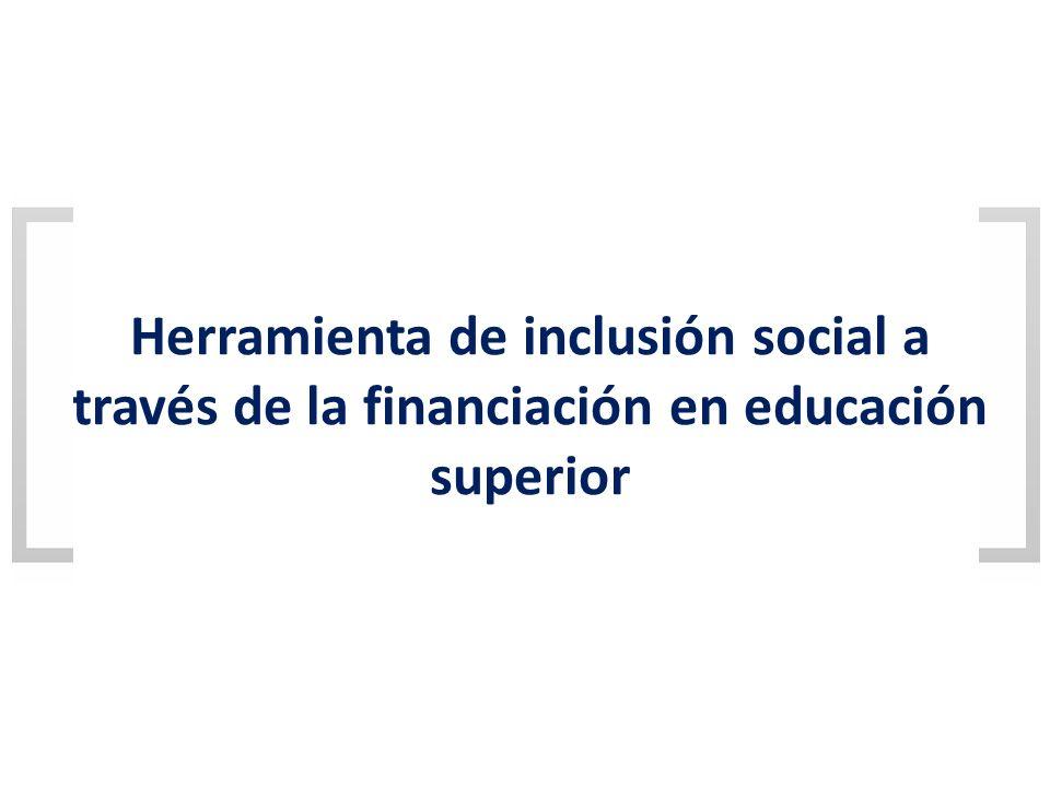 Herramienta de inclusión social a través de la financiación en educación superior