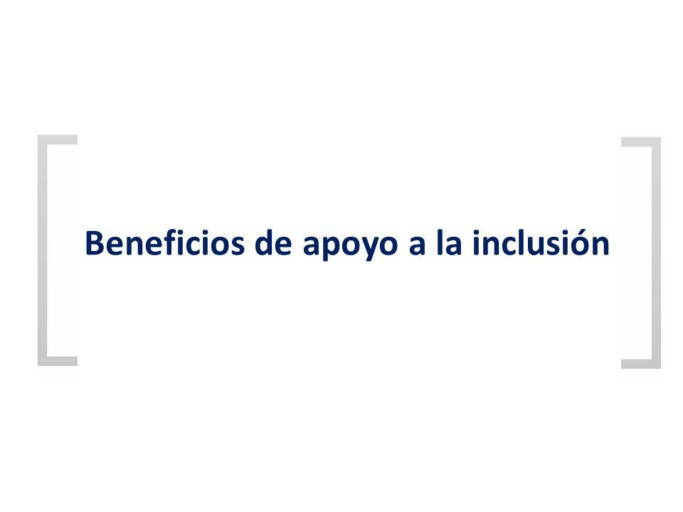 Beneficios de apoyo a la inclusión