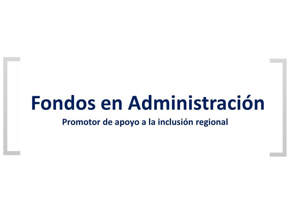 Fondos en Administración Promotor de apoyo a la inclusión regional