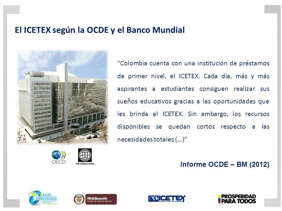 Colombia cuenta con una institución de préstamos de primer nivel, el ICETEX.