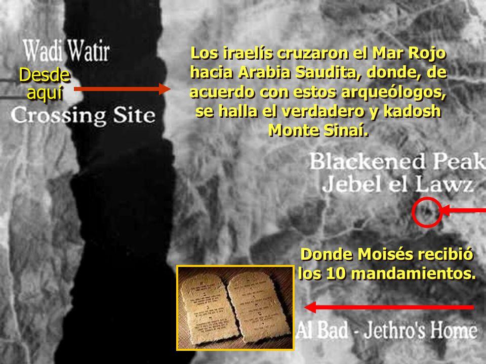 ¡ Ron Wyatt encontr ó los dos pilares del rey Salom ó n, colocados en ambas playas, para conmemorar el cruce del Mar Rojo.