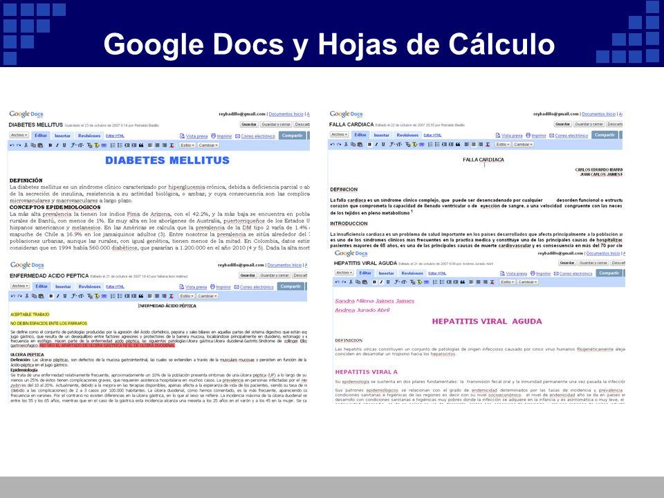 Google Docs y Hojas de Cálculo