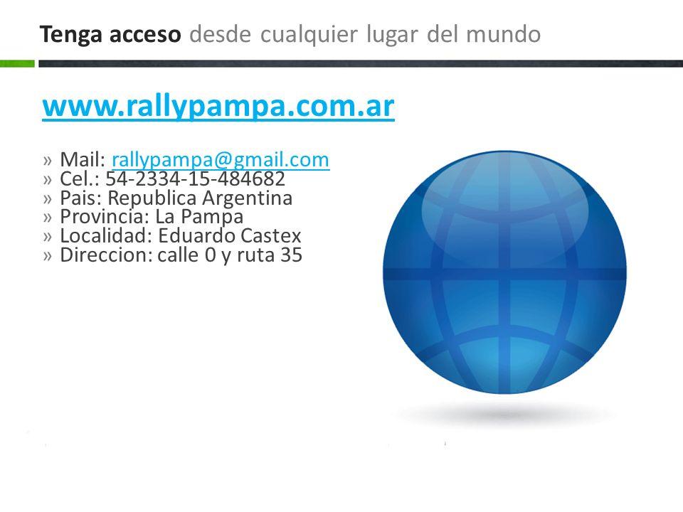 www.rallypampa.com.ar » Mail: rallypampa@gmail.comrallypampa@gmail.com » Cel.: 54-2334-15-484682 » Pais: Republica Argentina » Provincia: La Pampa » L