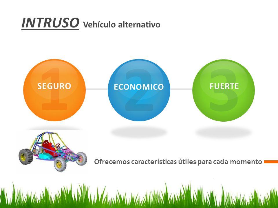 INTRUSO Vehículo alternativo Ofrecemos características útiles para cada momento 1SEGURO 2ECONOMICO 3FUERTE
