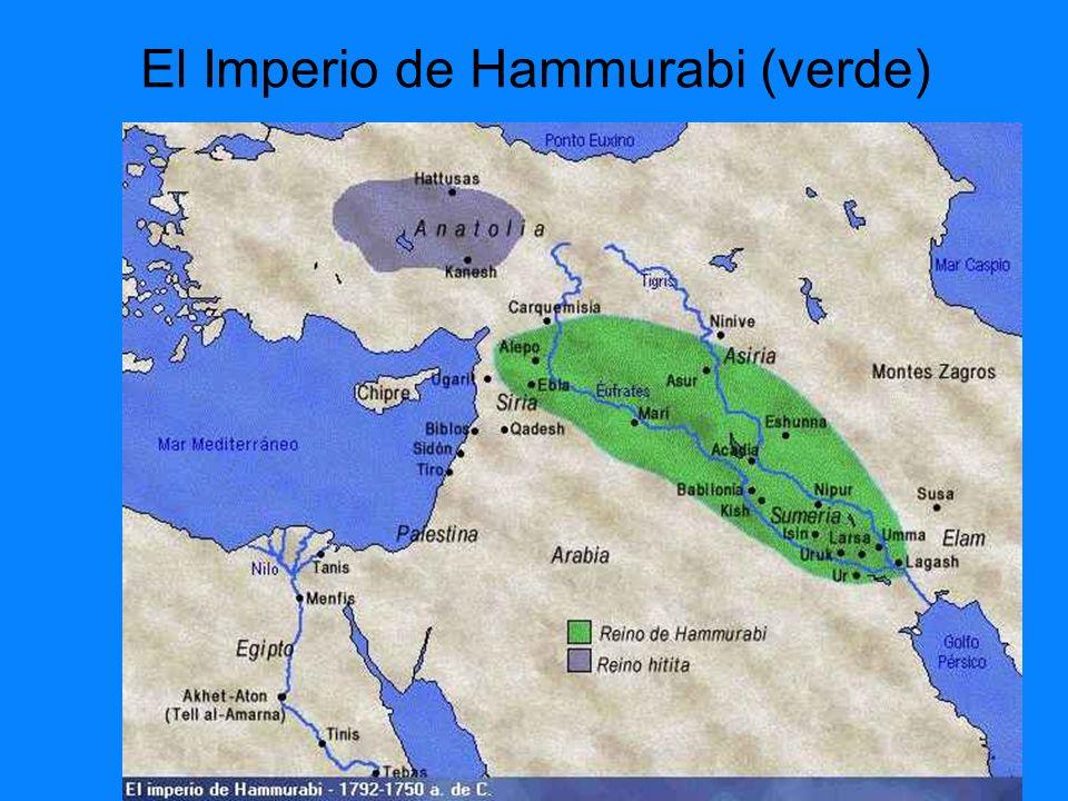 El Imperio de Hammurabi (verde)