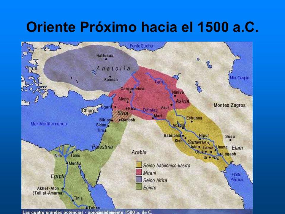 Oriente Próximo hacia el 1500 a.C.