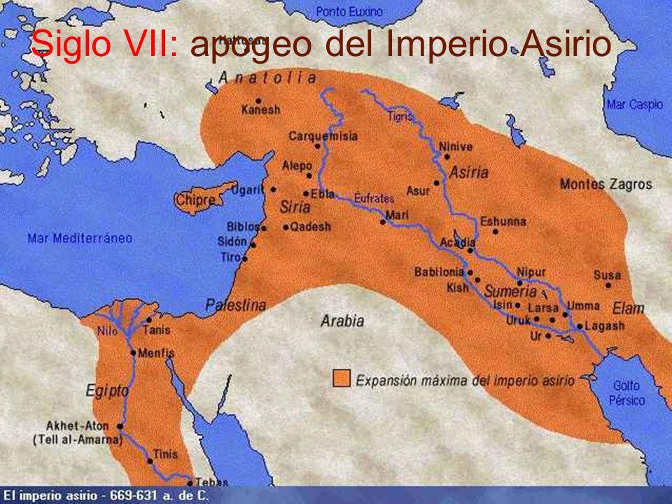 Siglo VII: apogeo del Imperio Asirio