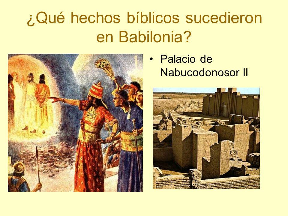 ¿Qué hechos bíblicos sucedieron en Babilonia? Palacio de Nabucodonosor II