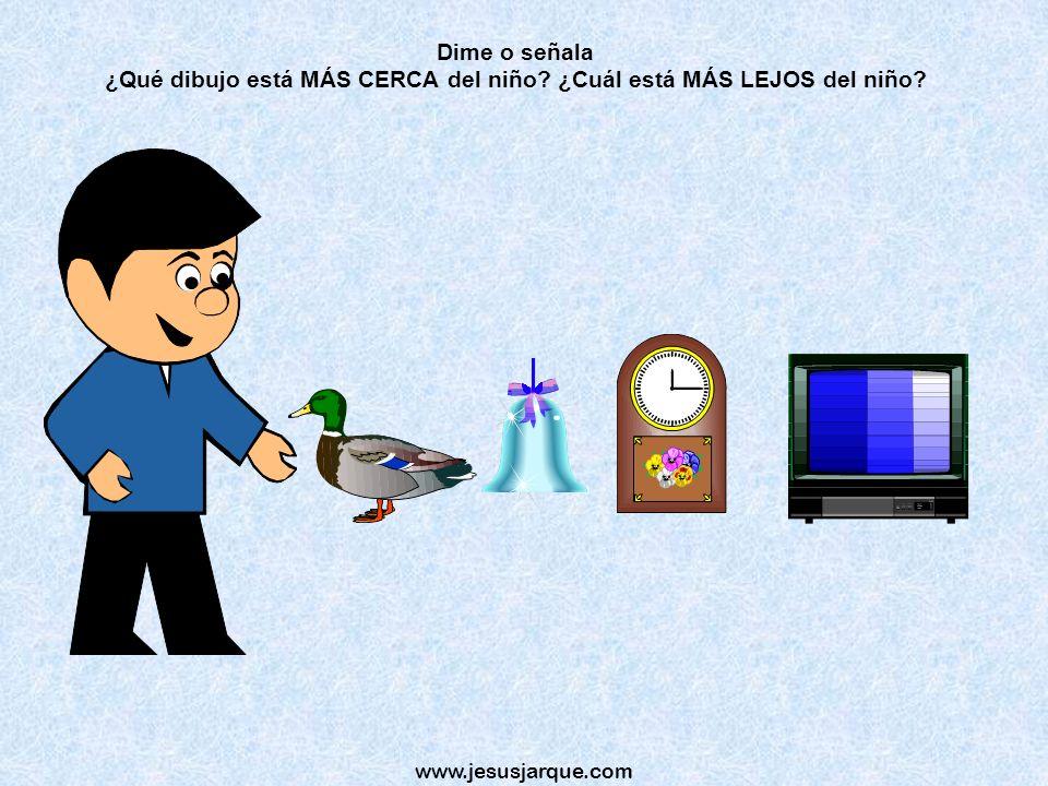 www.jesusjarque.com Dime o señala ¿Qué hay DETRÁS del cubo?