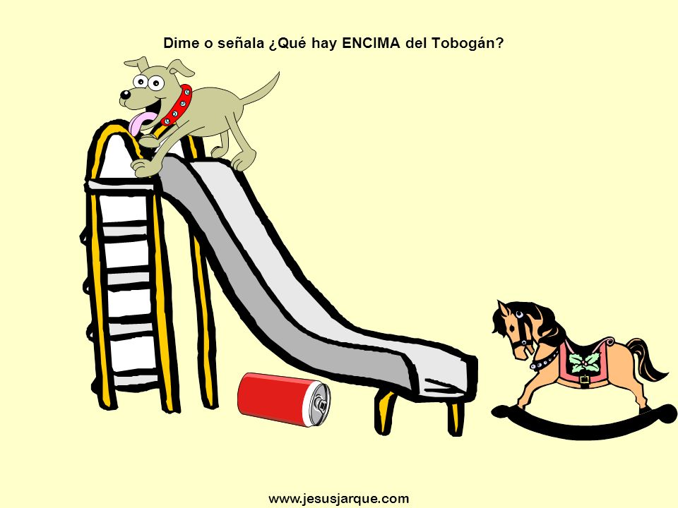www.jesusjarque.com Dime o señala ¿Qué hay ENCIMA del Tobogán?