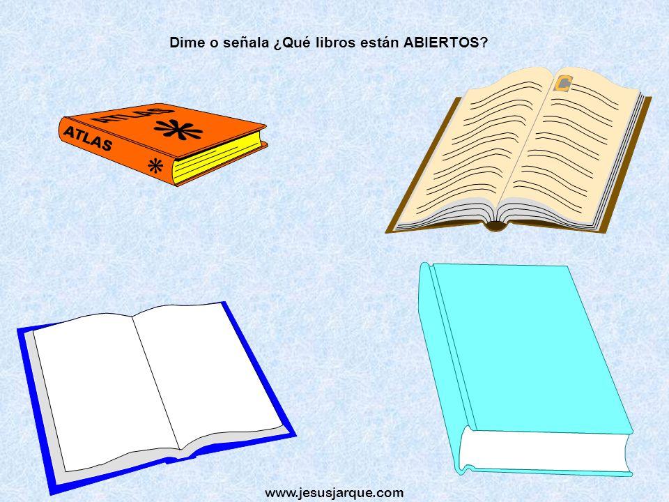 www.jesusjarque.com Dime o señala ¿Qué libros están ABIERTOS?