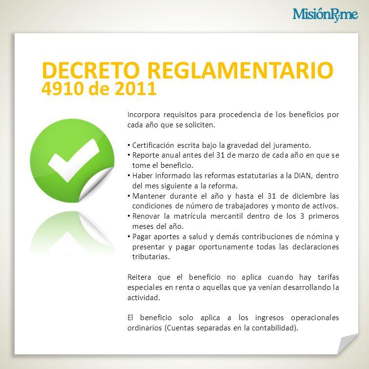 Incorpora requisitos para procedencia de los beneficios por cada año que se soliciten.