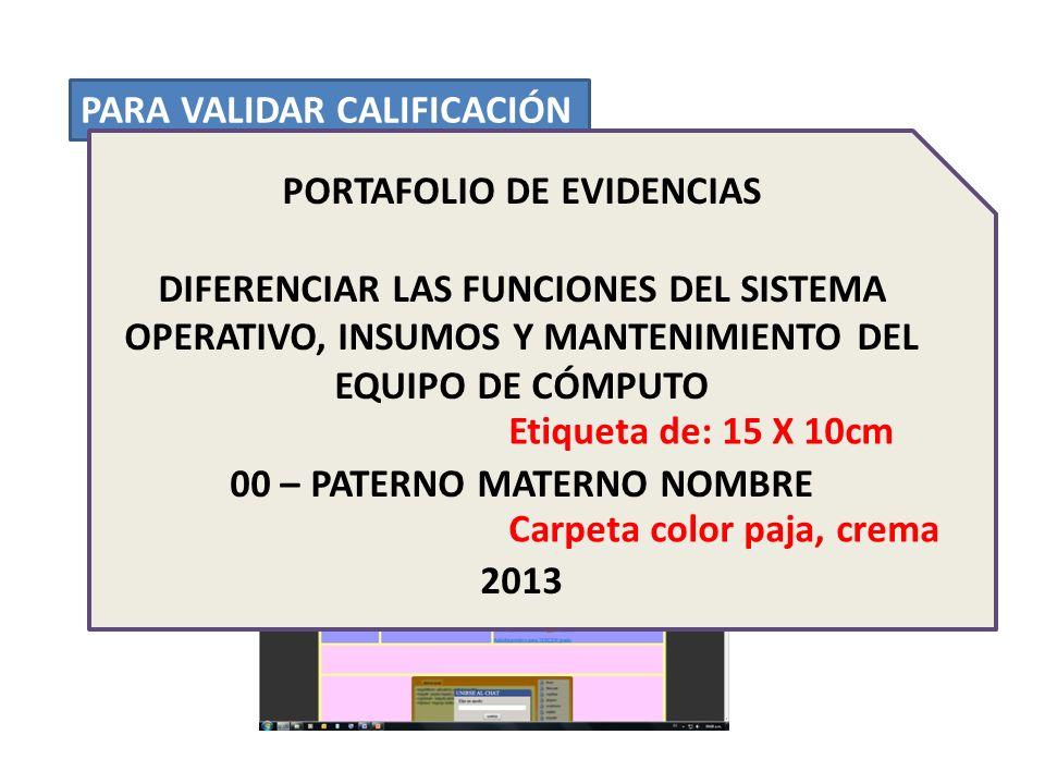 PARA VALIDAR CALIFICACIÓN 1.ENTREGAR PORTAFOLIO DE EVIDENCIAS A MÁS TARDAR EL JUEVES 05 DE DICIEMBRE EL JUEVES 05 DE DICIEMBRE 2.