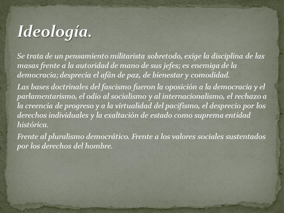 Al ser un sistema nacionalista, autoritaria, anticomunista y enemiga de la democracia liberal.