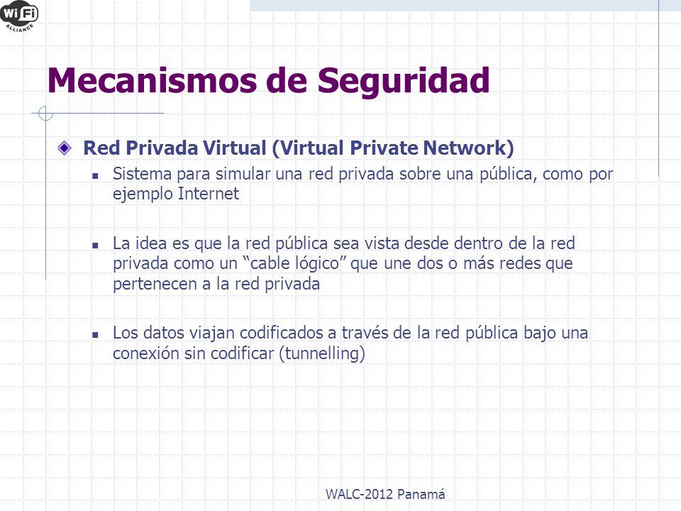 Red Privada Virtual (Virtual Private Network) Sistema para simular una red privada sobre una pública, como por ejemplo Internet La idea es que la red