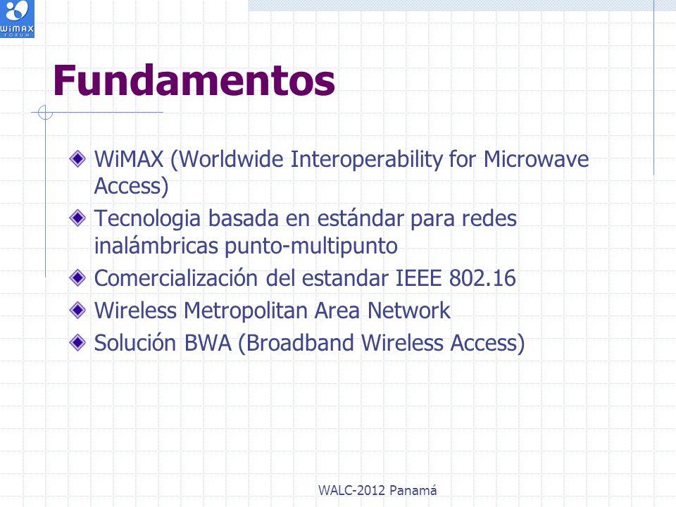 WiMAX (Worldwide Interoperability for Microwave Access) Tecnologia basada en estándar para redes inalámbricas punto-multipunto Comercialización del es