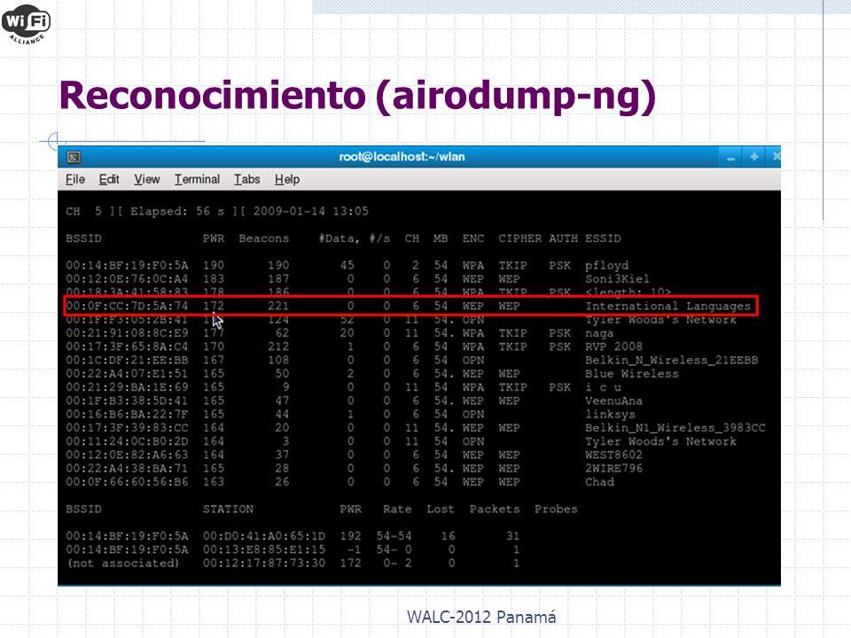 WALC-2012 Panamá Reconocimiento (airodump-ng)