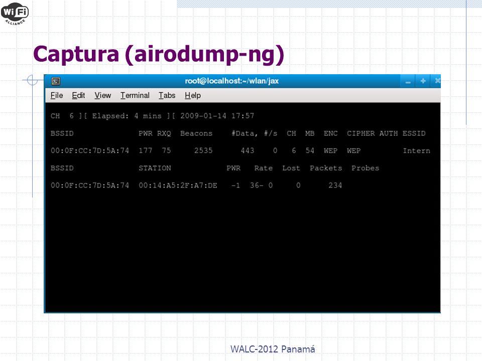WALC-2012 Panamá Captura (airodump-ng)