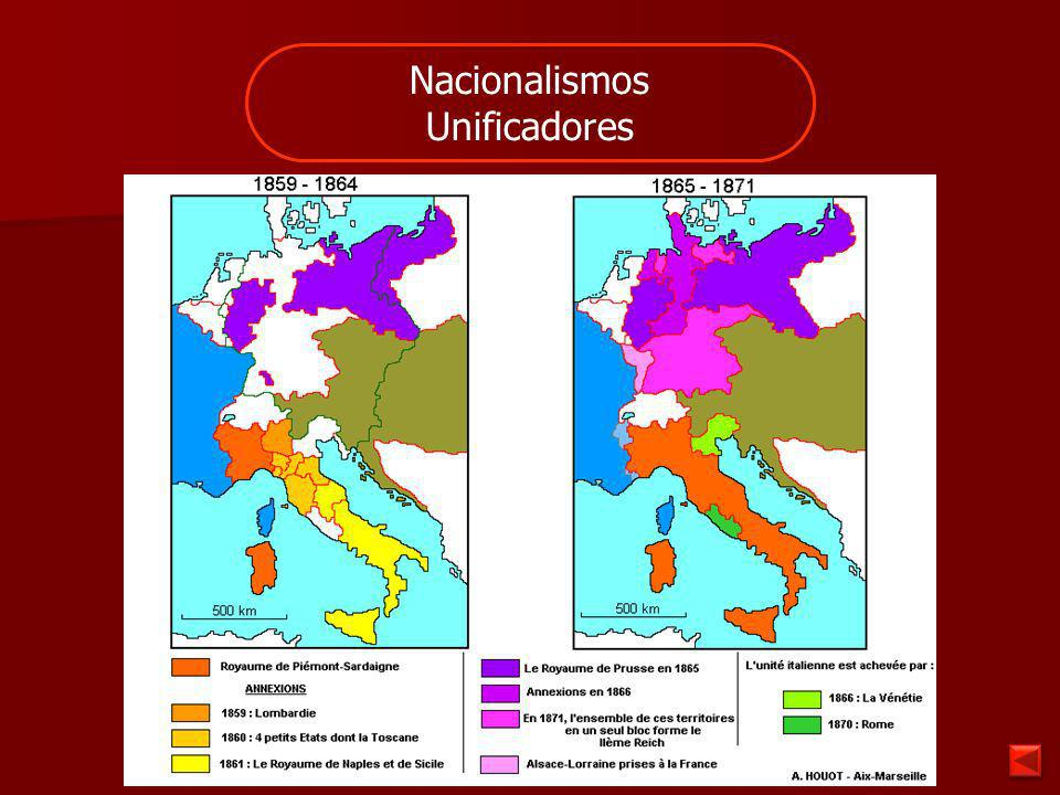 Nacionalismos Expansionistas Una Nación decide conquistar otros Pueblos o Naciones.