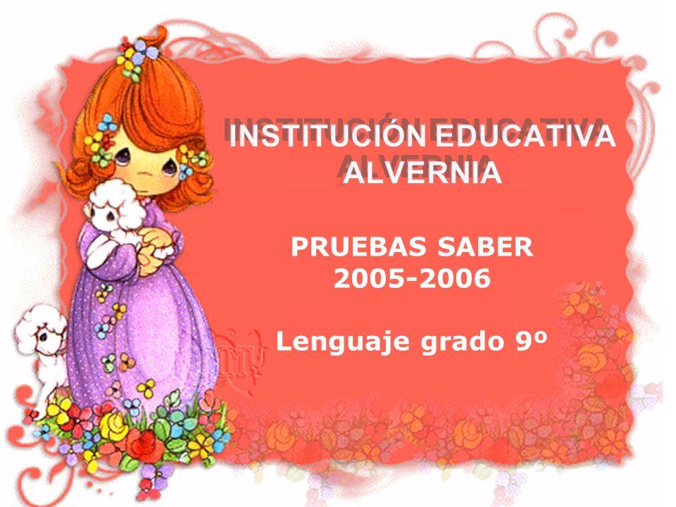 PRUEBAS SABER 2005-2006 Lenguaje grado 9º