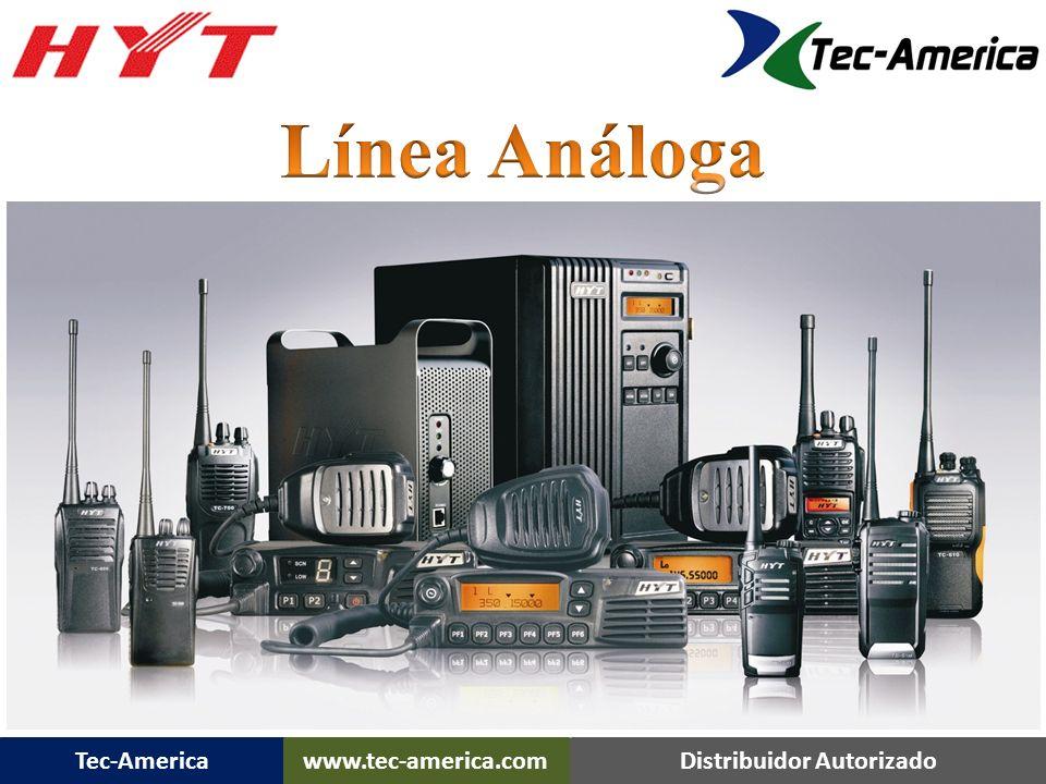 Tec-Americawww.tec-america.comDistribuidor Autorizado Rango de Frecuencia: 450-470MHz, 430-450MHz, 146-174MHz, Potencia de Salida en RF : VHF: 5/2W UHF:4/2W Capacidad de Canales: 16 Espaciamiento de Canales: 25/12.5KHz voltaje de Operación: 7.4V Batería Estándar: 1650 mAh (Li-Ion) Vida de la Batería (5-5-90 Duty Cycle), Superior a 14 horas