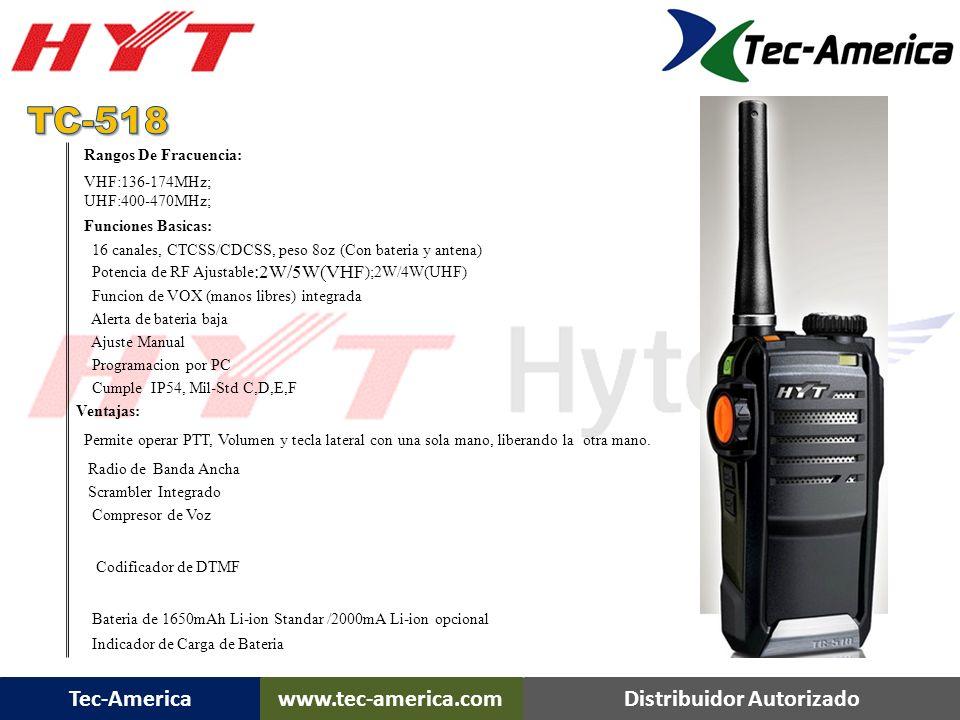 Tec-Americawww.tec-america.comDistribuidor Autorizado TC-518 Portátil