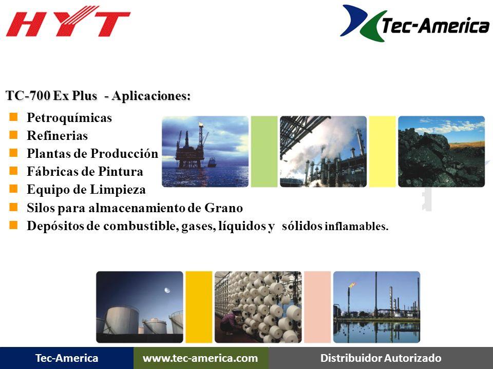 Tec-Americawww.tec-america.comDistribuidor Autorizado FM (IS Class I, II, III,DIVISION I, Group C,D,E,F,G,T3C) TC-700 Ex Plus TC-700 EX Plus FM Approv