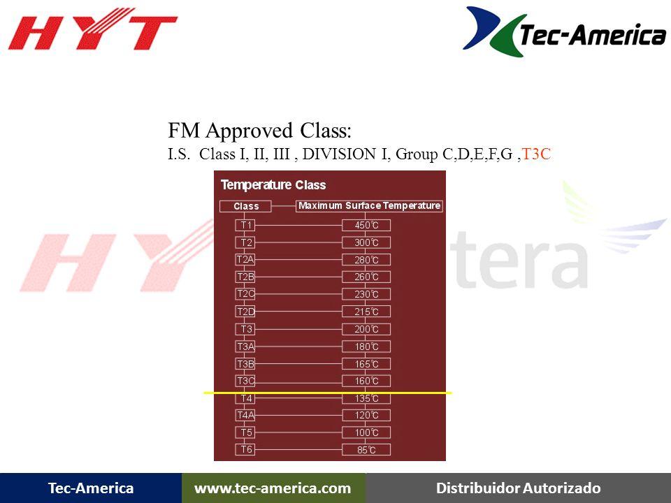 Tec-Americawww.tec-america.comDistribuidor Autorizado FM Approved Class: I.S. Class I, II, III, DIVISION I, Group C,D,E,F,G,T3C TC-700 Ex Plus