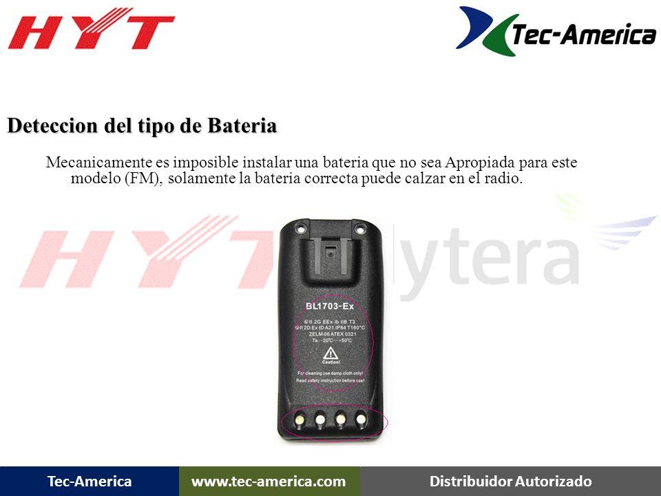 Tec-Americawww.tec-america.comDistribuidor Autorizado Diseño unico para asegurar la bateria, no permite un desprendimiento accidental. *No es necesari