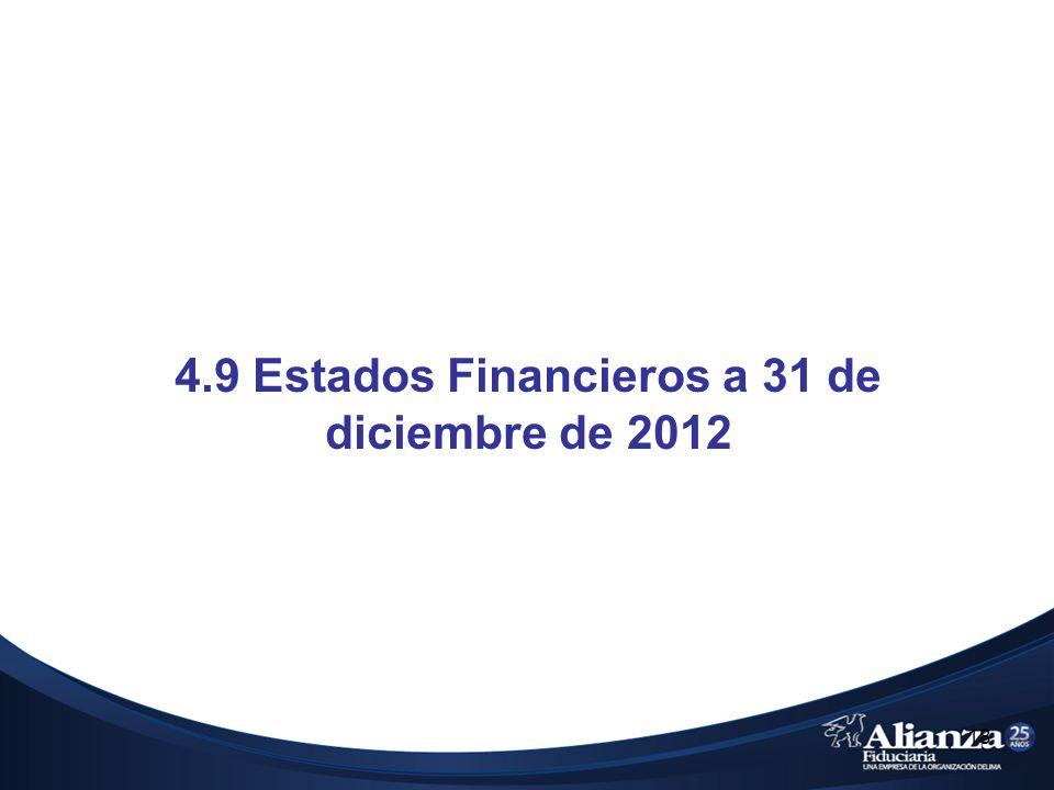 4.9 Estados Financieros a 31 de diciembre de 2012 18