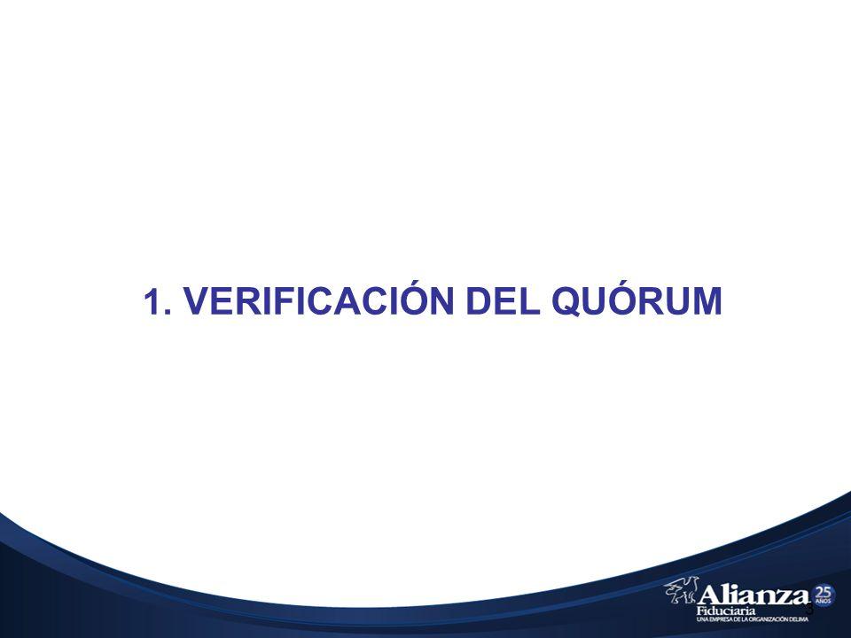 1. VERIFICACIÓN DEL QUÓRUM 3