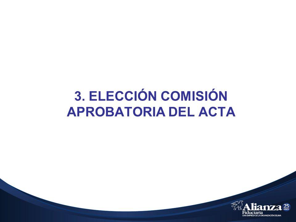 6 3. ELECCIÓN COMISIÓN APROBATORIA DEL ACTA