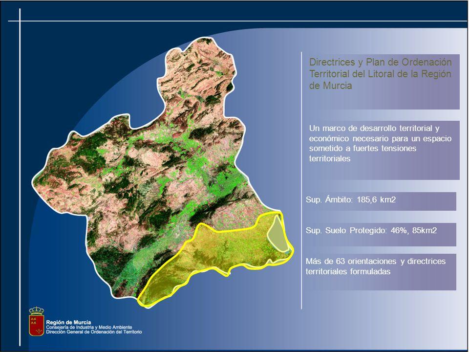 Directrices y Plan de Ordenación Territorial del Litoral de la Región de Murcia Un marco de desarrollo territorial y económico necesario para un espacio sometido a fuertes tensiones territoriales Sup.