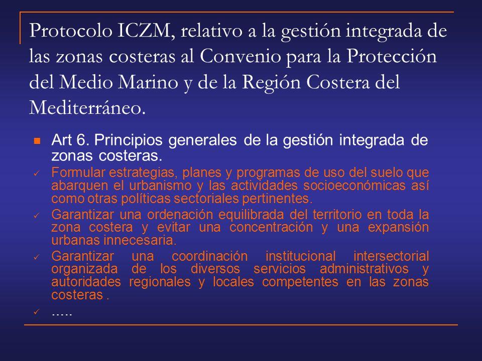 Un ejemplo de GIZC: Protección Territorial del Litoral.
