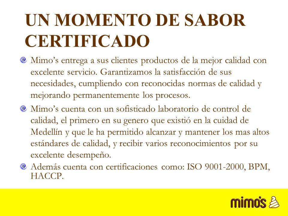 Mimos entrega a sus clientes productos de la mejor calidad con excelente servicio.