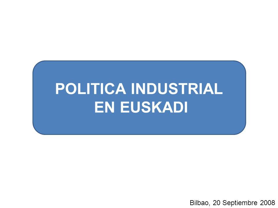 POLITICA INDUSTRIAL EN EUSKADI Bilbao, 20 Septiembre 2008