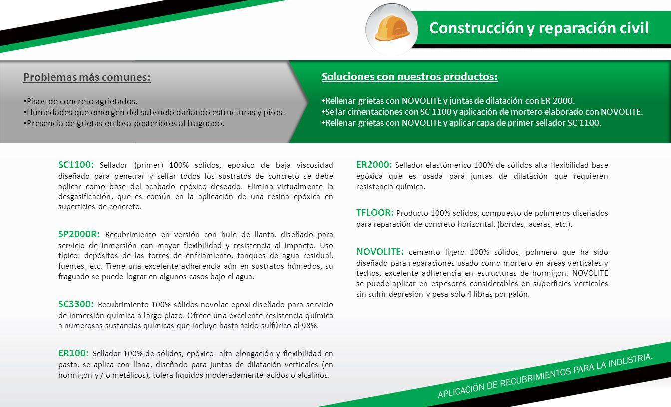 SC1100: Sellador (primer) 100% sólidos, epóxico de baja viscosidad diseñado para penetrar y sellar todos los sustratos de concreto se debe aplicar com