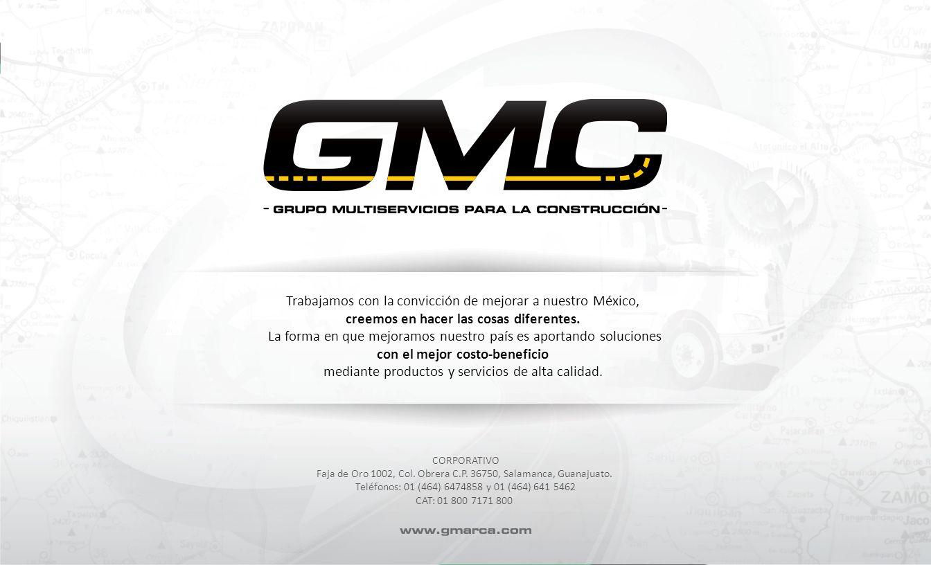 CORPORATIVO Faja de Oro 1002, Col. Obrera C.P. 36750, Salamanca, Guanajuato. Teléfonos: 01 (464) 6474858 y 01 (464) 641 5462 CAT: 01 800 7171 800 Trab