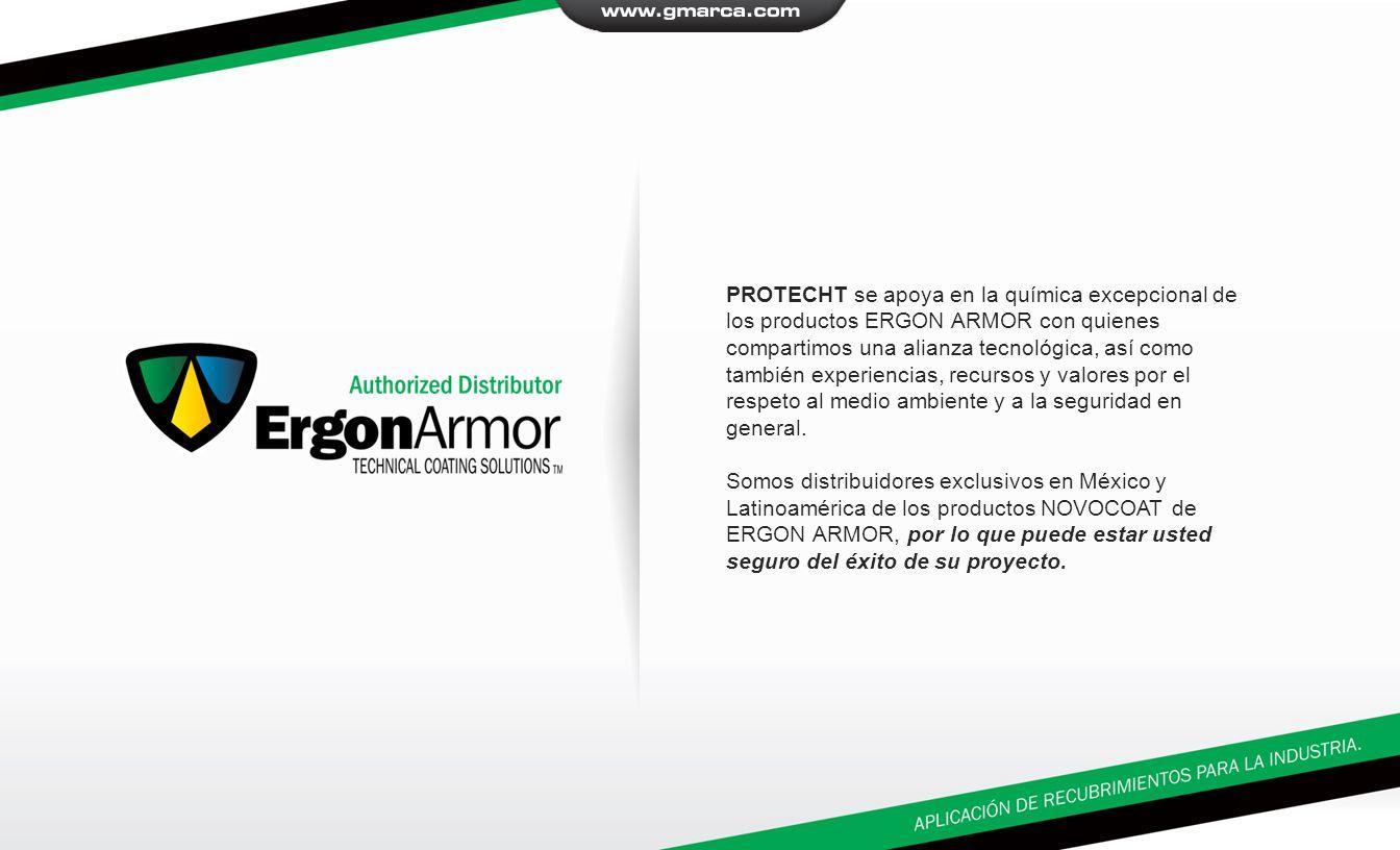 PROTECHT se apoya en la química excepcional de los productos ERGON ARMOR con quienes compartimos una alianza tecnológica, así como también experiencias, recursos y valores por el respeto al medio ambiente y a la seguridad en general.