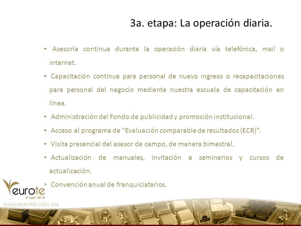 Asesoría continua durante la operación diaria vía telefónica, mail o internet. Capacitación continua para personal de nuevo ingreso o recapacitaciones