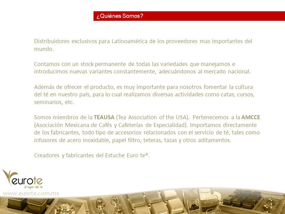 www.eurote.com.mx Entrepreneur Cuerpo, alma y bolsillo El negocio del té Diciembre 2000 REFORMA Entre taza y taza 12-sep-2003 El Té se pone de moda 20-jun-2008