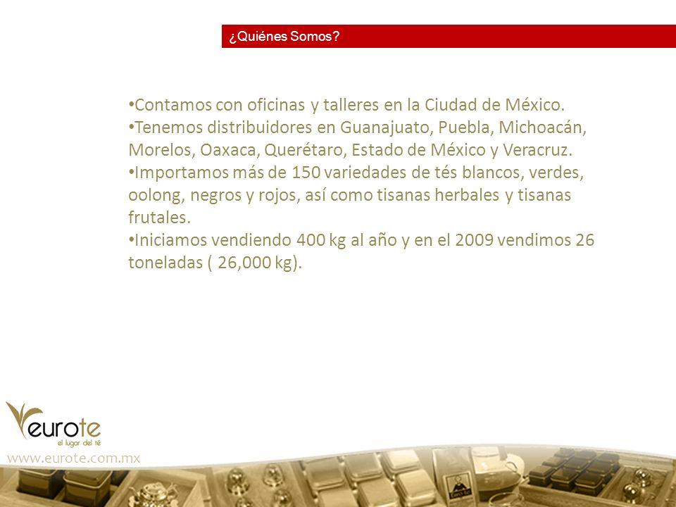 www.eurote.com.mx Lo mejor del café La planta del té y sus procesos Té o tisana?.