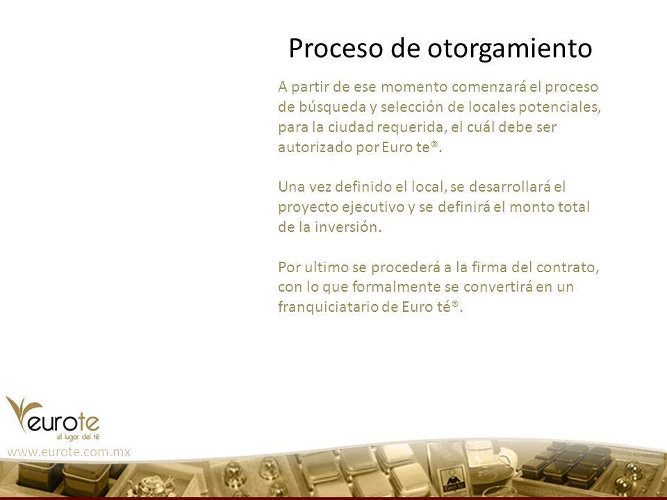 www.eurote.com.mx A partir de ese momento comenzará el proceso de búsqueda y selección de locales potenciales, para la ciudad requerida, el cuál debe