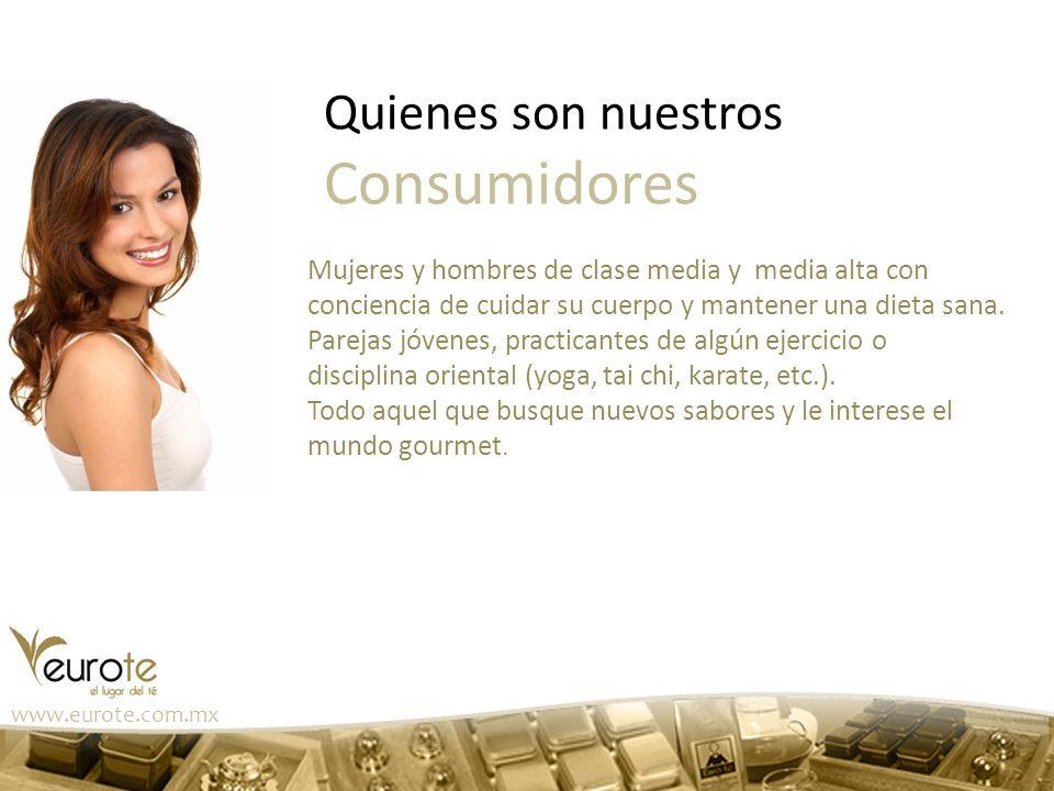 www.eurote.com.mx Mujeres y hombres de clase media y media alta con conciencia de cuidar su cuerpo y mantener una dieta sana. Parejas jóvenes, practic