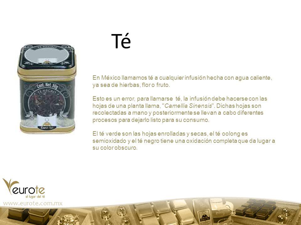 nuestro modelo de operación www.eurote.com.mx El salón de té cuenta con venta de te a granel, accesorios para la degustación del té, alimentos básicos, postres y bebidas frías y calientes elaboradas a base de té.