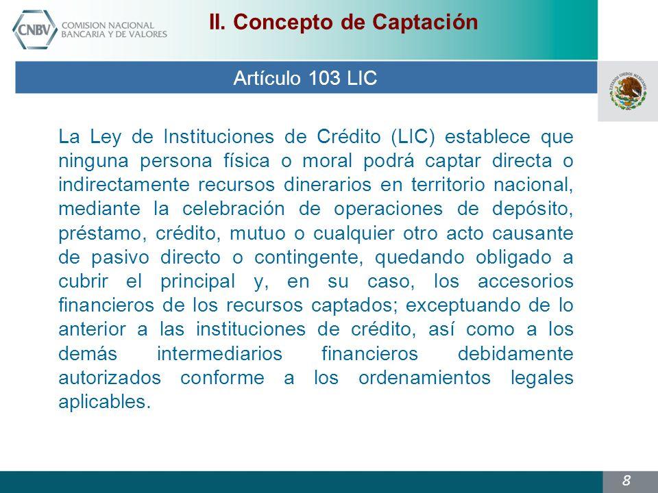 8 Artículo 103 LIC II.