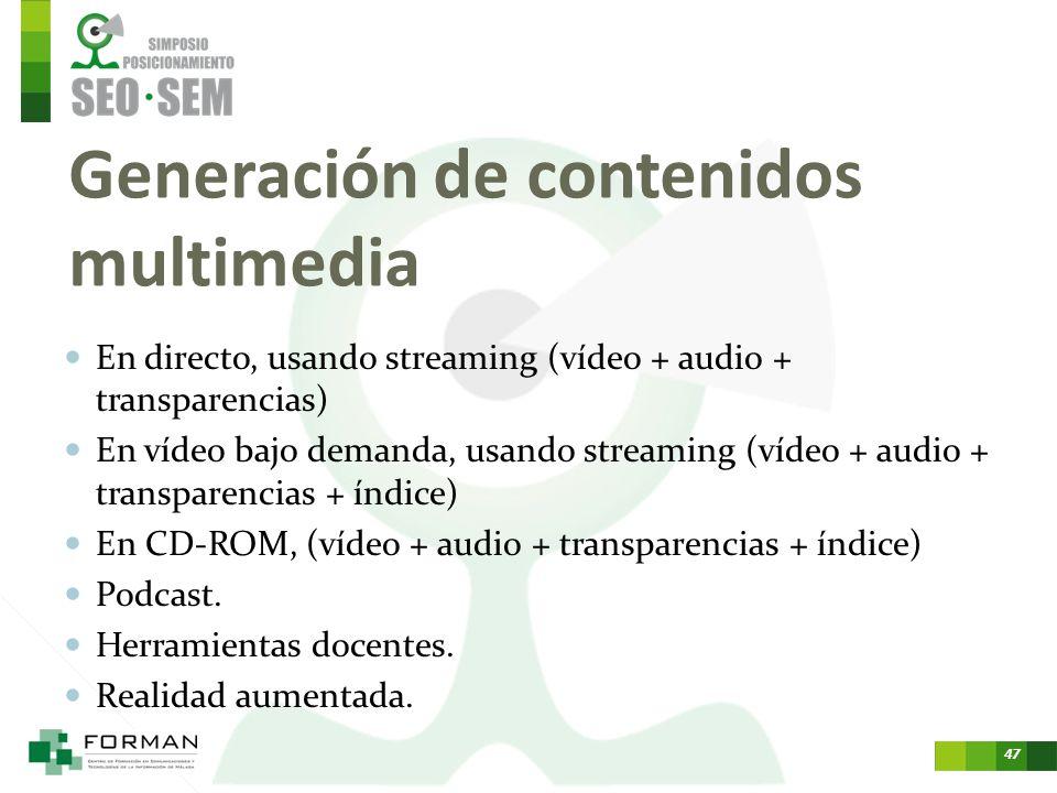 46 Otros modelos de negocio relacionados Desarrollo de aplicaciones. Geolocalización. Smart televisión, el videoclub en casa e internet. Smart phones